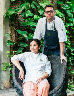 Portraits of Duangporn Songvisava and Dylan Jones of Restaurant Bolan