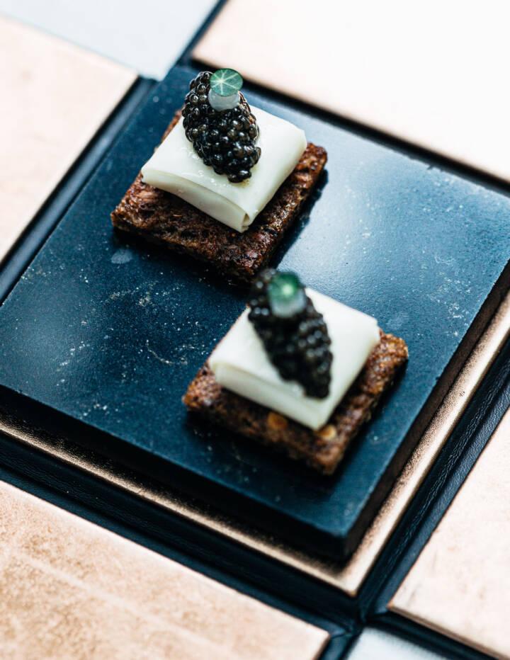 Smoked sturgeon & buttermilk Food Still Life at Restaurant Sühring
