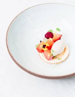 Plum & Quark Food Still Life at Restaurant Sühring
