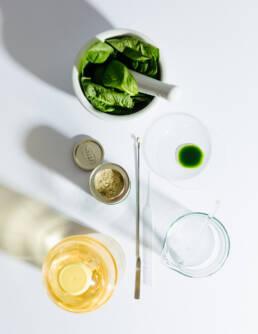 Food Fraud: Spinach and oil as Fake Olive Oil – Editorial Still Life Photography